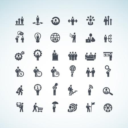 dirección empresarial: Conjunto de iconos de concepto de negocio
