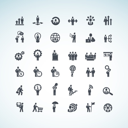 at icon: Set of business concept icons