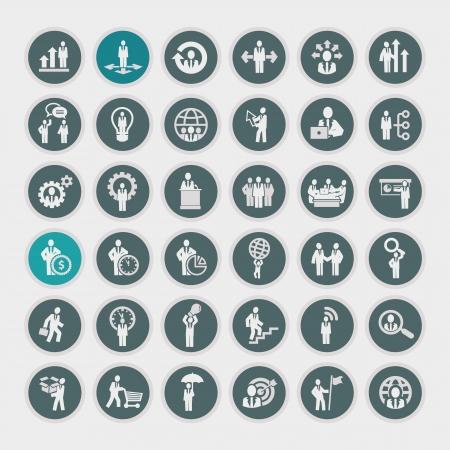 reuniones empresariales: Iconos de negocios