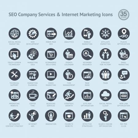 gestion empresarial: Conjunto de iconos de negocio