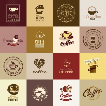 tasse caf�: Ensemble d'ic�nes de caf� Illustration