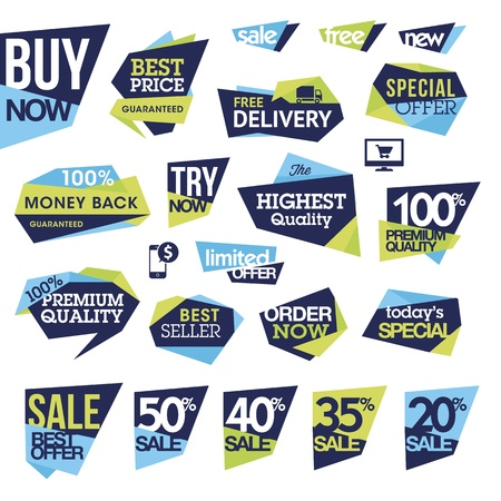 discounts: Set of badges and labels for sale