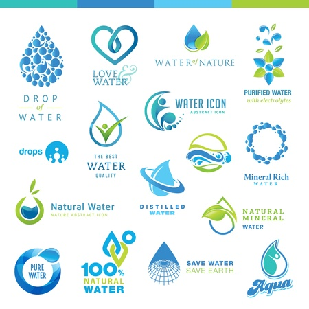 Set of water icons Illustration