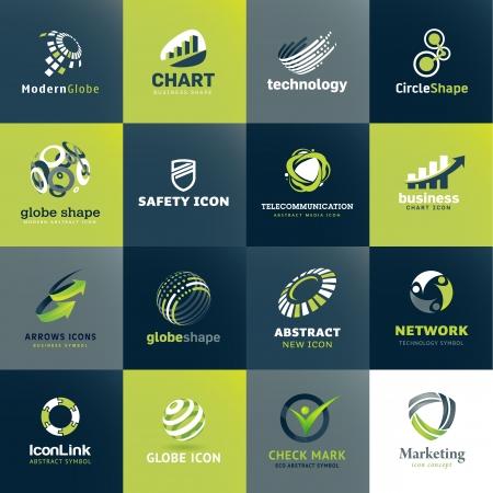 ビジネスおよび技術のためのアイコン セット