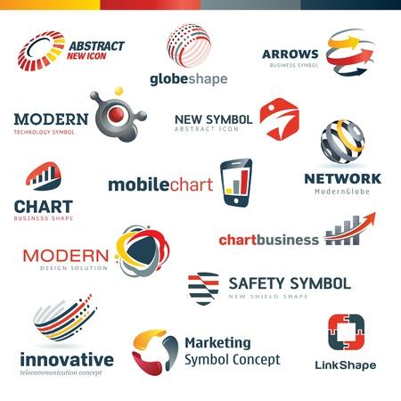 arrow circle: Set of modern designed icons