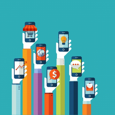 Plat ontwerp vector illustratie concept voor mobiele apps