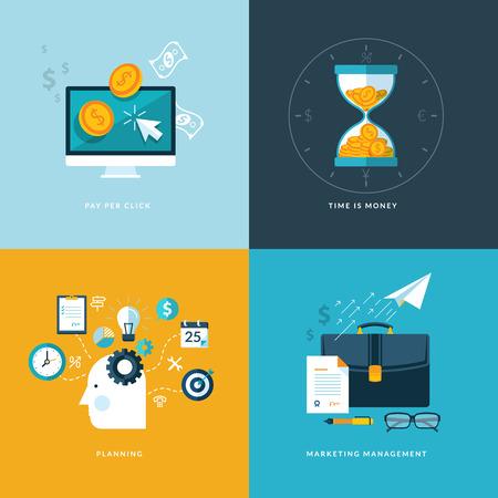 interaccion social: Conjunto de iconos de concepto dise�o plano de los servicios web y de telefon�a m�vil y las aplicaciones