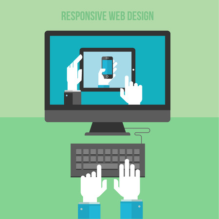 Flat design concept for responsive web design  Concepts for web banners and printed materials Stock Vector - 27896192