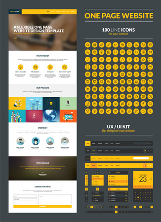 responsive web design: One page website design template