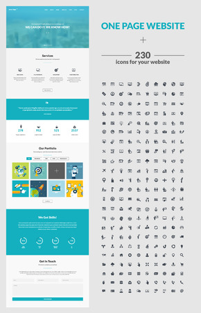 kit: One page website design template