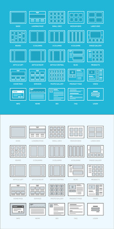 basics: Set of website wireframes