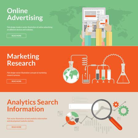 Set of flat design concepts for online advertising