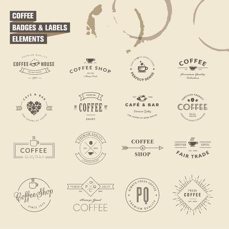 배지입니다 커피 요소 레이블