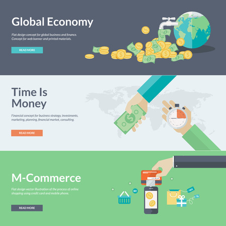 Flat design illustration concepts for business, finance, economy, investment, marketing, consulting, financial market, business strategy, m-commerce