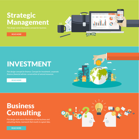 Flat design illustration concepts for business, finance, strategic management, investment, corporate finance, conservation of natural resources, consulting, teamwork, great idea