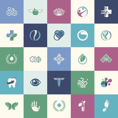symbol hand: Set flache Design Icons f�r Medizin, Gesundheitswesen, Pharmazie und Naturprodukt und gesundes Leben, f�r Websites, Print-und Werbematerialien, Web und mobile Dienste und Apps Icons. Illustration