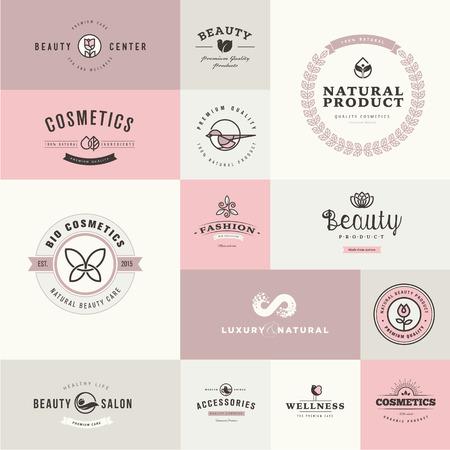 schönheit: Set flache Design Symbole für Schönheit und Kosmetik