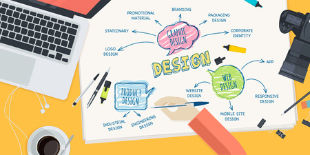 app banner: Flat design illustration concept for design. Concept for web banner and promotional material.