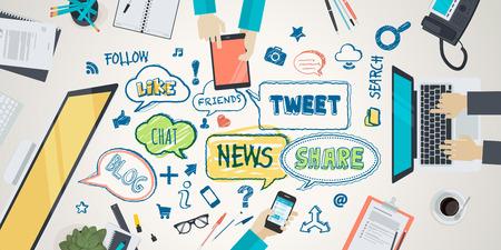 Appartement illustration de conception concept pour réseau social. Concept pour bannière web et du matériel promotionnel. Banque d'images - 36489448