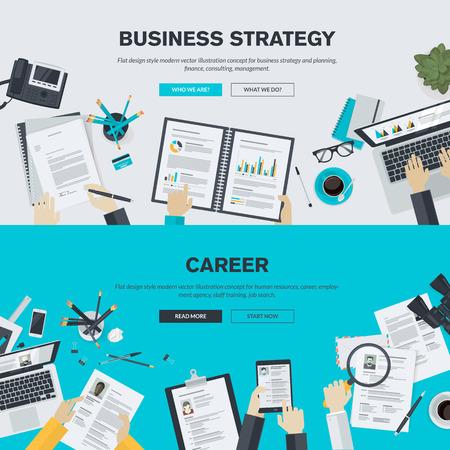 Płaska konstrukcja ilustracja koncepcja dla biznesu, finansów, doradztwa, zarządzania, zasobów ludzkich, kariery, agencji zatrudnienia, szkolenia pracowników. Koncepcje tle, banery internetowe, materiały promocyjne, plakat, szablonów prezentacji, reklamy.