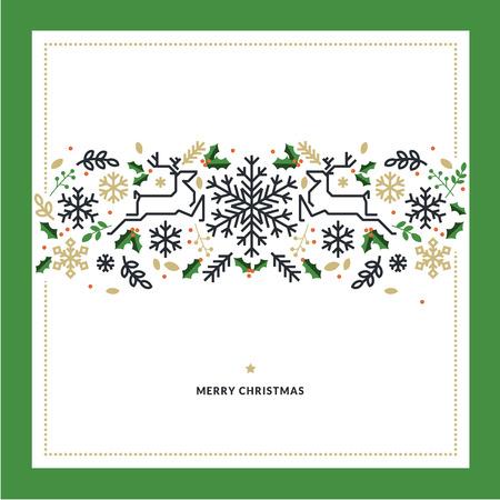 Conception de ligne plate Noël vector illustration pour carte de voeux, bannière, matériel de marketing, arrière-plan, papier d'emballage, texture. Banque d'images - 47943049