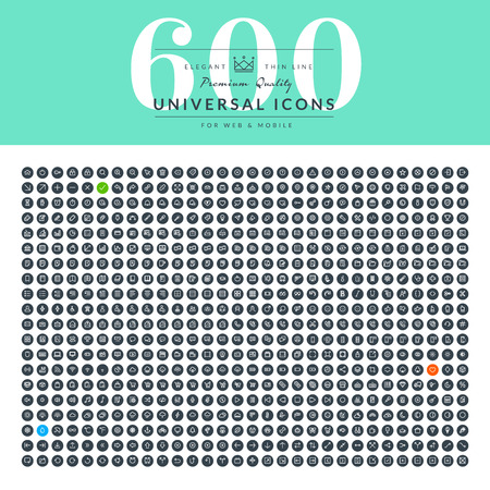 comunicación: Conjunto de iconos delgadas línea de Web para negocios Vectores