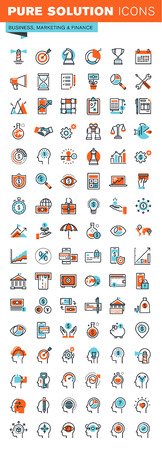 decisionmaking: Thin line web icons for business, finance and banking, marketing, human features, decision-making and communication, for websites and mobile websites and apps.
