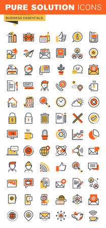 delgada línea de diseño colección de plano básico iconos web. Iconos para web y aplicaciones de diseño, fácil de usar y altamente personalizable.