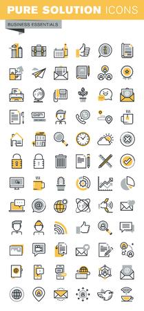 Moderno vector delgada línea Colección de los iconos de negocios. Conjunto de moderno pictograma vector logo y elementos de diseño de infografía. Esquema colección de iconos para el sitio web y el diseño de aplicaciones.