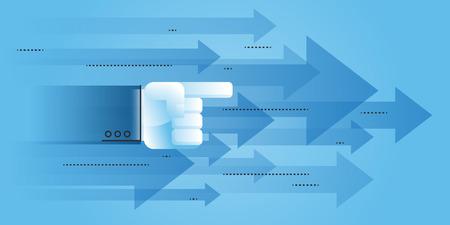Richtung zum Erfolg Flat Line Design Business-Konzept für die Website Moderne Illustration für Web-Design, Marketing und Print-Material.
