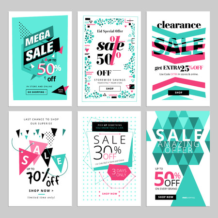Social media sale banners collection