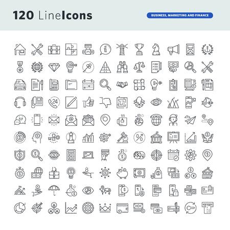 Set van premium concept iconen voor zaken, marketing en financiën. Stockfoto - 72756407