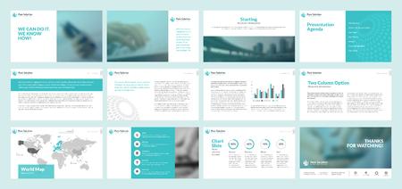 Zakelijke presentatie templates. Set van vector infographic elementen voor de presentatie dia's, jaarverslag, business marketing, brochure, flyers, webdesign en banner, bedrijfspresentatie.