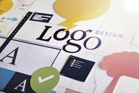 Logo design concept for graphic designers and design agencies services. Concept for web banners, internet marketing, printed material, presentation templates.