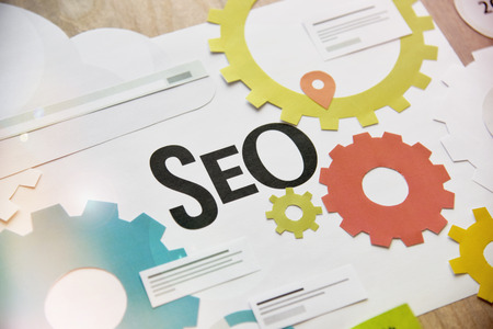 SEO design concept for web banners.