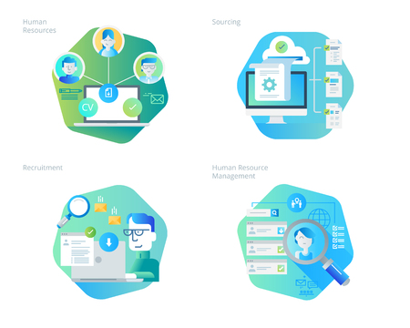 career management: Material design icons set  for human resources, recruitment, HR management, career. UIUX kit for web design, applications, mobile interface, infographics and print design.