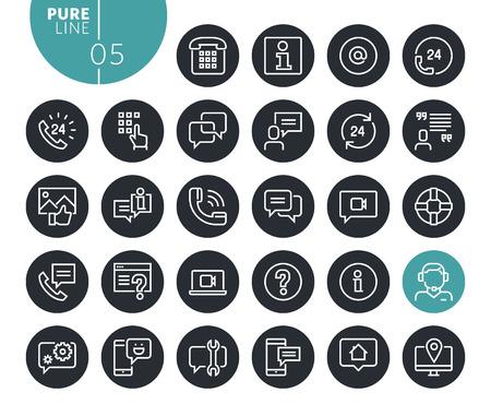 Modern mobile service and communication line icons set. Vector illustrations for web and app design and development. Premium quality outline web symbols. Illustration