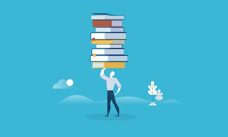 Banner de web de estilo de diseño plano para el poder de la educación. Concepto de ilustración vectorial para diseño web, marketing y material de impresión. Foto de archivo - 88065056