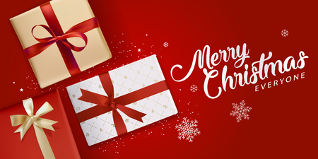クリスマスのグリーティング カード。グリーティング カード、ウェブサイトやマーケティング資料、モバイル バナーのベクトル図概念。  イラスト・ベクター素材