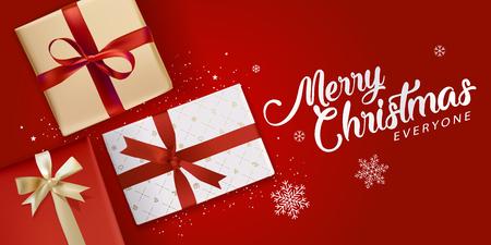 Kerst wenskaart. Vectorillustratieconcept voor groetkaarten, website en mobiele banners, marketing materiaal. Stockfoto - 89096143