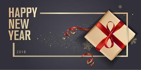 Carte de voeux de nouvel an. Concept d'illustration vectorielle luxueux pour cartes de voeux, bannière Web, brochure de Ecorcheur, carte d'invitation parti