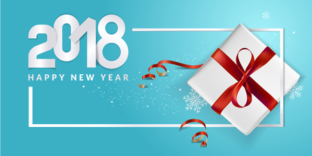 Elegant New Years greeting card. Vector illustration concept for greeting cards, web banner, flayer brochure, party invitation card.