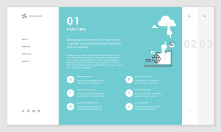 Effective website template design. Modern flat design vector illustration concept of web page design for website and mobile website development. Easy to edit and customize. Illustration