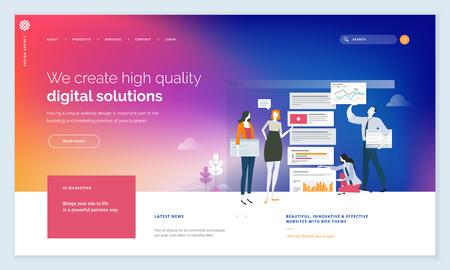 Digital solutions website template design.