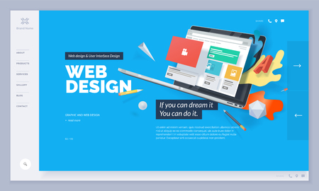 Vector illustration template for website and mobile website design and development. Creative concept, easy to edit and customize.