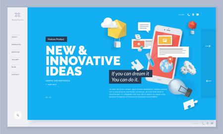Website design. Vector illustration template for website and mobile website design and development.
