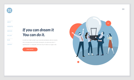 Creative website template design. Vector illustration concept of web page design for website and mobile website development. Easy to edit and customize. Ilustrace