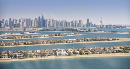 Panorama of Dubai Marina, UAE Stock Photo