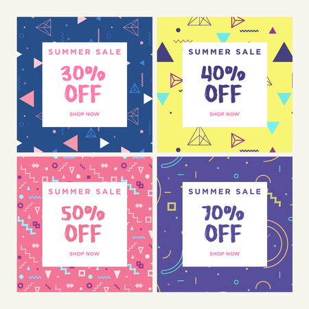 Social media banners for online shopping. Vector illustrations for website and mobile website banners, posters, email and newsletter designs, ads, promotional material.