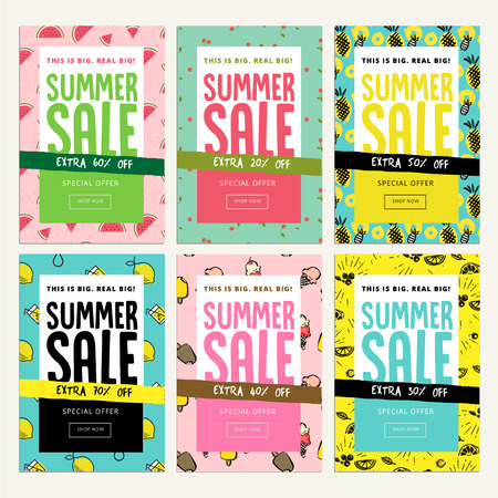 Mobile sale banner templates. Vector illustrations of online shopping ads, posters, newsletter designs, coupons, social media banners and marketing material.